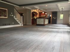 This Red Oak Floor was fumed and then finished with 5% smoke colored Rubio Monocoat.