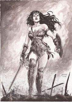 Wonder Woman by Kewber Baal Wonder Woman Pictures, Wonder Woman Art, Wonder Woman Comic, Dc Comics Characters, Female Characters, Wander Woman, Comics Girls, Dc Heroes, Marvel Dc Comics