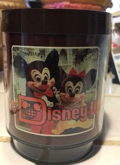 Walt Disney World Vintage Thermo Serv Mug Cup Mickey Mouse Park Collectible #Unbranded