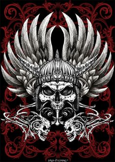 Warrior Skull by *Oblivion-design on deviantART would make an awesome tattoo