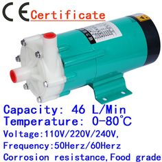 76.13$  Buy now - http://aliov4.worldwells.pw/go.php?t=761004601 - Chemical Impeller Magnetic Drive Water Pump MP-20RX 50HZ 220V household Water Spouting Pool, Spa equipment,cycle Filter Liquid 76.13$