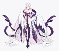 "Mi'yuki(みゆき) on Twitter: ""白鵺… "" Fantasy Character Design, Character Design Inspiration, Character Art, Anime Girl Cute, Anime Art Girl, Anime Girl Kimono, Anime Girls, Fantasy Creatures, Mythical Creatures"
