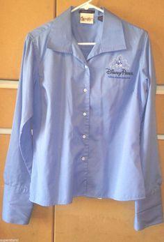 DISNEYLAND & DISNEY PARKS- Blue Executive Women's Shirt Blouse Size L