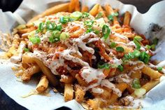 kimchi fries// I will have to cleanse for a week after eating these but I am sure, totally worth it.