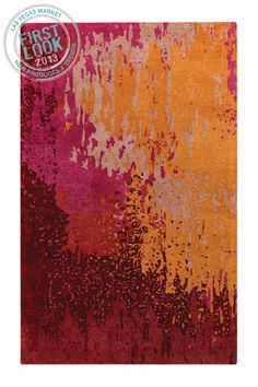 Key colors for 2014 at #LVMkt - @Surya Yalamanchili's hand-tufted Serenade Collection features the pinks, purples, reds & oranges that are on the horizon for 2014.