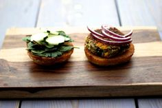 Quinoa pumpkin burgers would make a delicious Fall meal.