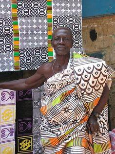 An elder wearing Adinkra in Ghana.