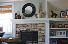 Classic Style Home: Neutral Fall Mantle