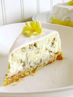 Lemon and Liquorice Cheesecake  (swedish recipe)