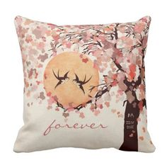 Love Birds - Fall Wedding ceremony Anniversary Pillow. *** Learn more by visiting the photo link
