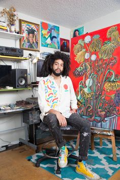 Austin artist Rex Hamilton shares his favorite things Painting Inspiration, Art Inspo, Art Hoe Aesthetic, Black Artists, Artist At Work, Artist Life, T Rex, Art Studios, Love Art