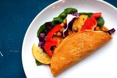 Grønnsakshagen: Kikertwraps med cashewkrem og marinerte kikerter