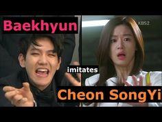 Baekhyun imitates Cheon SongYi(천송이) @ 140510 연예가중계 - YouTube