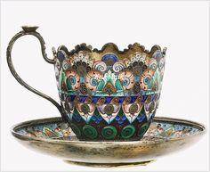 Russian enamel. Pavel Ovchinnikov Akimovich (Russia, 1830 - 1888)