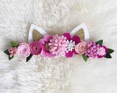 Felt flower crown // pink or purple rifle inspired flower
