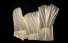 Windings - LICHTPAPIER – Anke Neumanngenerated by the rigidity of the optical fibers in conjunction with thin paper Moon Projects, Neumann, Light Installation, Soft Sculpture, Art Object, Art Plastique, Light Art, Pendant Lamp, Textures Patterns