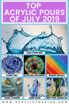 Here are the top acrylic pouring posts of July 2019 from talented artists. Acrylic Painting Tips, Flow Painting, Pour Painting, Painting Lessons, Acrylic Art, Art Lessons, Watercolor Tips, Painting Canvas, Abstract Paintings