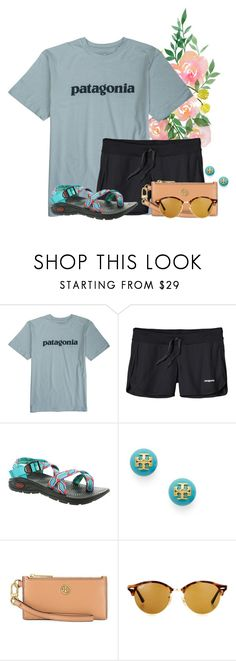 """""""Any tips on how to make my sets more likeable?"""" by flroasburn ❤ liked on Polyvore featuring Patagonia, Chaco, Tory Burch and Ray-Ban"""