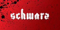 Schwarz font designby Miguel Ibarra