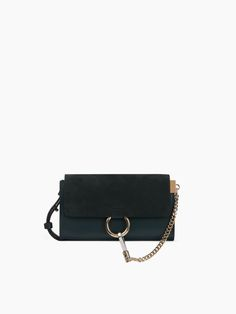 FAYE WALLET ON STRAP Faye long wallet in smooth and suede calfskin with adjustable strap € 472