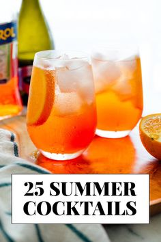 Find the refreshing summertime cocktail you're looking for! You'll find homemade cocktails for summer brunch, bubbly afternoon cocktails, evening sips, and everything in between.