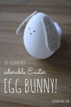 Easy craft to make with the kids! (They can pers… DIY Easter egg-bunny. Easy craft to make with the kids! (They can pers…,Eier♡Ostern♡Eastern♡Pasen DIY Easter egg-bunny. Easter Egg Crafts, Easter Projects, Easter Eggs, Easter Dyi, Diy Projects, Funny Easter Bunny, Easy Crafts To Make, Easy Diy, Diy Ostern