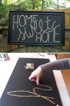 Cute DIY Room Decor Ideas for Teens - DIY Bedroom Projects for Teenagers - Pushpin Wall Art with Quote