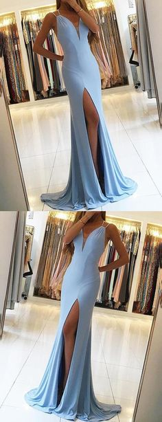 Prom Dress Fitted, Gorgeous Sleeveless Mermaid Evening Dress Slit Long Prom Dress There are delicate lace prom dresses with sleeves, dazzling sequin ball gowns, and opulently beaded mermaid dresses. Prom Dresses 2018, Backless Prom Dresses, Prom Dresses Online, Cheap Prom Dresses, Sexy Dresses, Dress Prom, Dress Formal, Prom Gowns, Party Dress