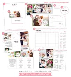 Pro Wedding Marketing Kit | Wedding dreamer | Photoshop templates for photographers by Birdesign