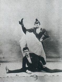 • LA GOULUE (1866-1929) & VALENTIN LE DÉSOSSÉ (1843-1907)  • Moulin Rouge, Paris •