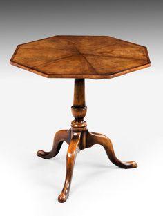Late 19th Century Octagonal Mahogany Tilt Table