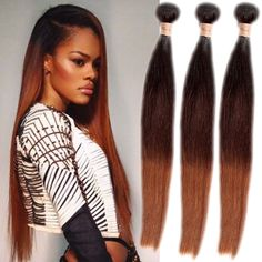 """2015New Style Ombre Hair Straight 16""""-18""""Ombre Brazilian Human Hair 1B/4/30# Hot #wigiss #HairExtension"""