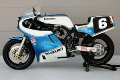 Suzuki XR69 F1 TT recreated by Trident. A brand new classic. One of these won the Manx GP- Isle of Man Classics TT- with Michael Dunlop stting a record time for 'classics', causing controversy as many competitors are individual privateers paying for their own racing on a budget riding 30year old bikes.