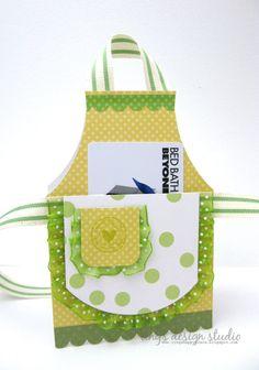 Ling's Design Studio: Apron Gift Card Holder