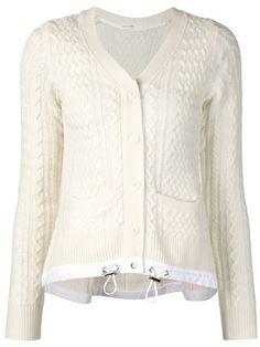 Sacai Luck cable knit cardigan | Sacai | Pinterest | Cable knit ...