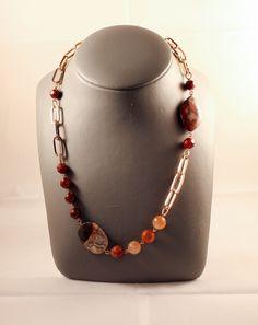 Collar cadena y piedras naturales.http://marberaltabisuteria.mitiendy.com/categorias/collares