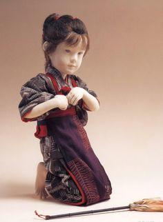 Hand made doll by Yuki Bjd, Japanese Culture, Japanese Art, Japanese Doll, Asian Babies, Polymer Clay Dolls, Asian Doll, Ichimatsu, Oriental Fashion