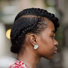 Natural Twist Hairstyles You've Got to Try In 2019 85 Best Flat Twist Styles and How to Do them Style Easily Natural Hair Flat Twist, Flat Twist Updo, Natural Hair Updo, Twist Braids, Natural Hair Styles, Kid Braids, Flat Twist Hairstyles, Up Hairstyles, Dreadlock Hairstyles