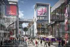 Miami WorldCenter releases first  renderings of high street retail design, aimed at creating a pedestrian friendly shopping, dining and entertainment experience in Downtown Miami #MiamiWorldCenter #DowntownMiami #Miami