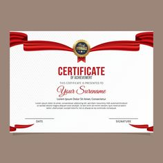 Luxury Certificate Template. Vector illustration