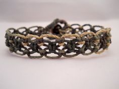 Camo TieDye Hemp Bracelet by PeaceLoveNKnottyHemp on Etsy, $8.00