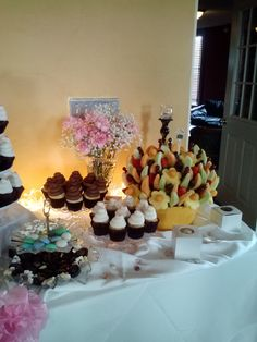 Dessert table at Baby Shower-2014