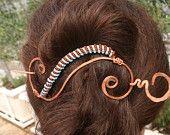 Copper Hair Slide,Hair Accessories,Large Hair Clip,Hair Pin,Hair Stick FREE SHIPPING WORLDWIDE