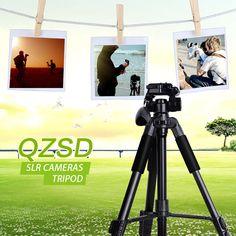 Q111 Portable Light Weight  Aluminium Pan/Tilt Head Camera Tripod For beginners #QZSD