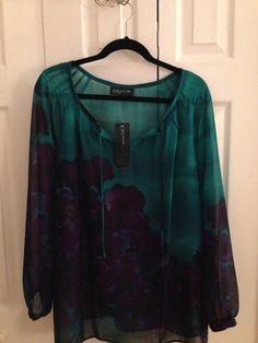 Jones New York Multi-Color Blouse Size M #JonesNewYork #Blouse