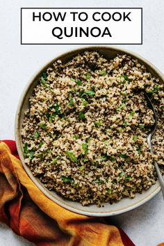 Ever wondered how to cook the perfect quinoa? Here is a guide on how to cook quinoa three ways: stovetop, slow cooker, and Instant Pot. #vegan #dairyfree #quinoa #stovetop #slowcooker #instantpot Healthy Gluten Free Recipes, Vegetarian Recipes, Cooking 101, Cooking Recipes, Perfect Quinoa, Simply Recipes, How To Cook Quinoa, Whole Food Recipes, Instant Pot