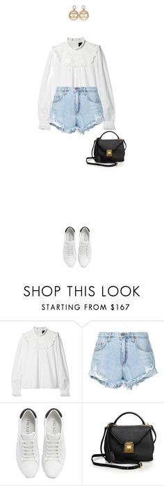 """""""Untitled #1176"""" by beheshtanezami ❤ liked on Polyvore featuring Needle & Thread, Nobody Denim, Prada, Mark Cross and Chanel"""