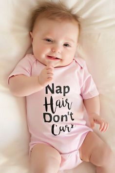 Nap Hair Don't Care! Girls Onesie