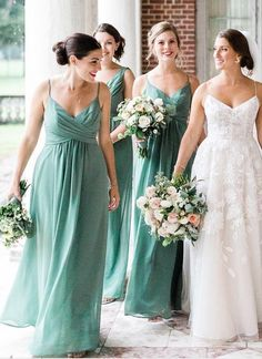 2fc35f712a Mint Green Cheap Bridesmaids Dresses Chiffon Pleats Maid Modern Bridesmaid  Dresses