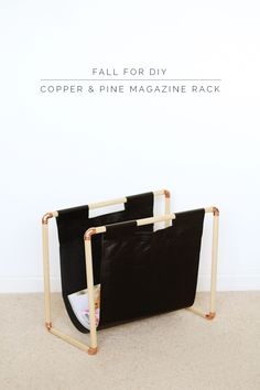 Fall For DIY Copper and Pine Magazine Rack
